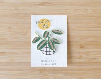 Plant lover pin Maranta leuconeura
