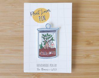 Plant lover pin Terrarium