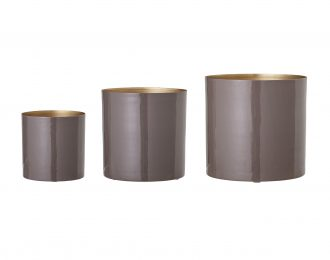 Coprivaso in metallo 15-21-25,5 cm
